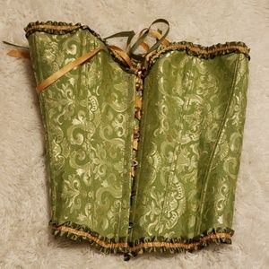 Green and Gold Corset